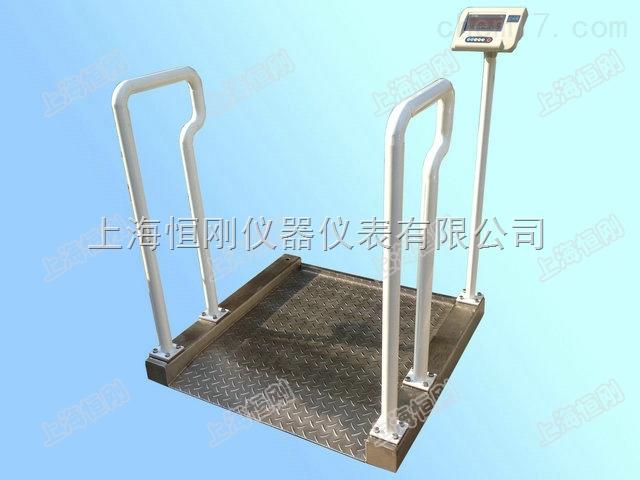 帶座椅的碳鋼輪椅秤,接電腦輪椅測量秤