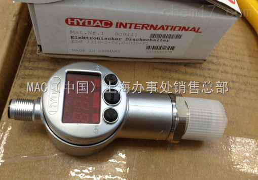 德国HYDAC传感器EDS-346-3-250-000+ZBE06