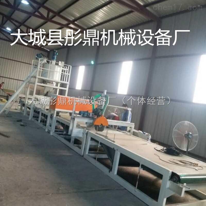 机制岩棉砂浆复合板生产线介绍与说明