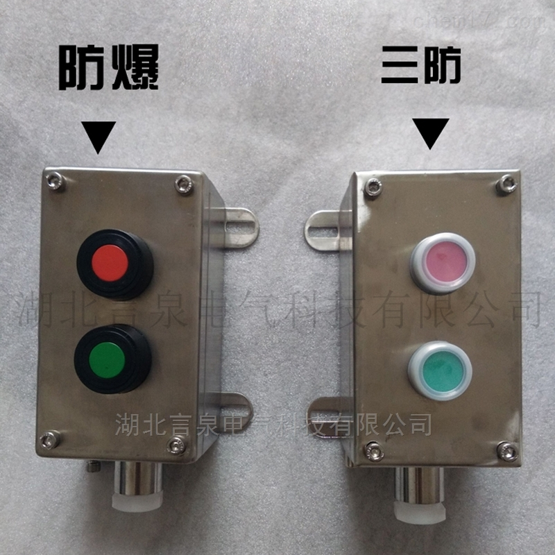 BZA8050-G-A2一启动停止不锈钢自复位按钮盒