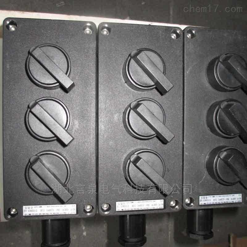 BZM8050-10A防爆型三联明装单控照明开关
