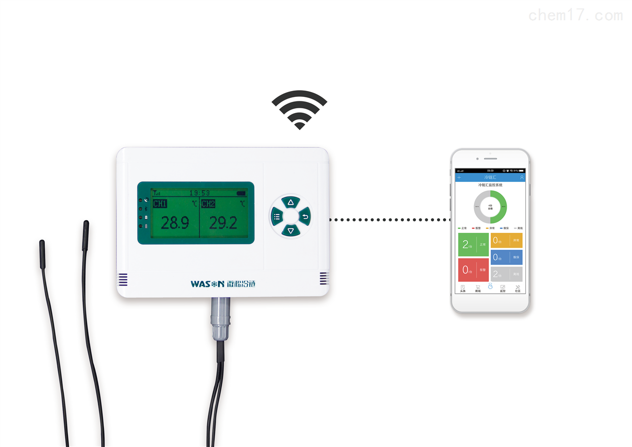 供应GPRS无线双通道温度采集器
