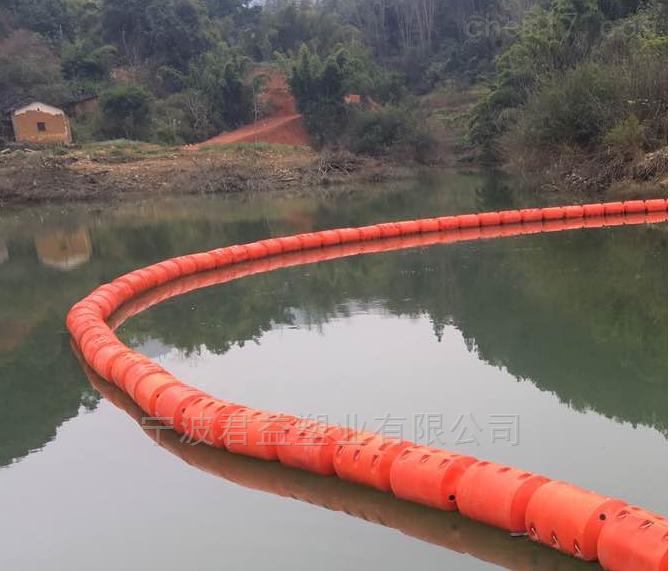 河道水面浮筒 长度1米塑料浮筒厂家