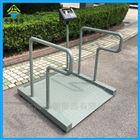 帶打印輪椅秤廠家,0.8*0.8米體重透析秤