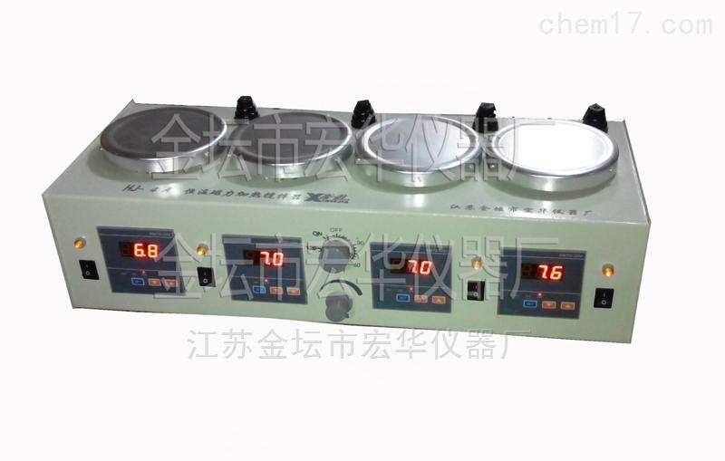 四联磁力恒温搅拌器| 多头磁力加热搅拌器