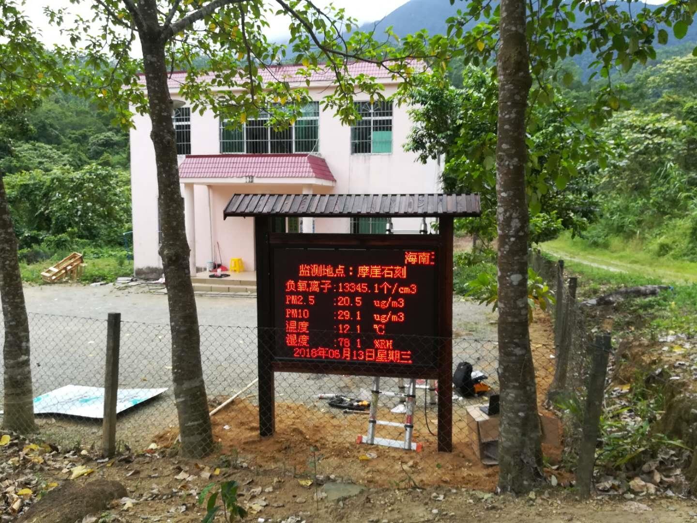 高山瀑布负氧离子在线监测系统大屏显示