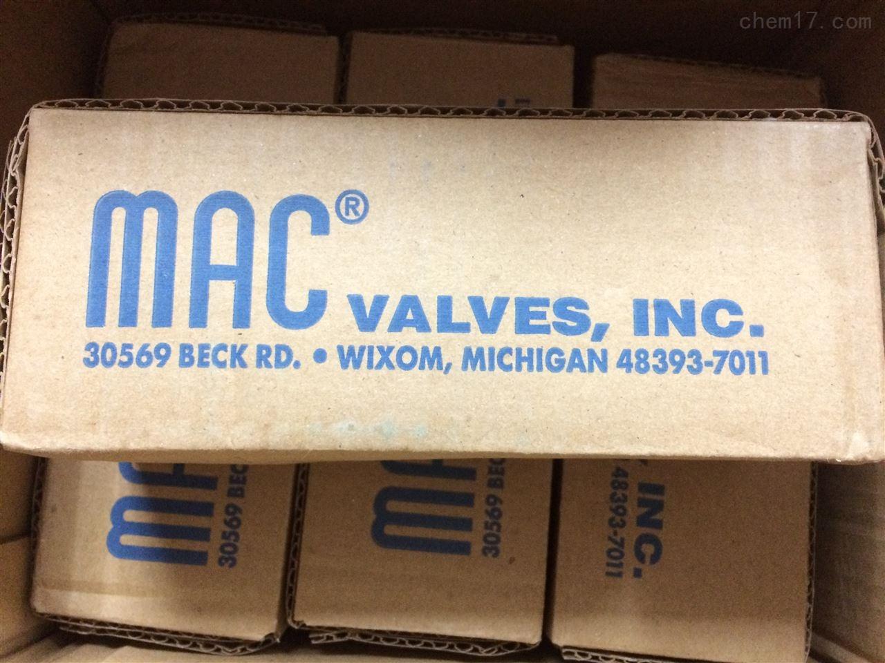 原裝正品美國MAC電磁閥611B-12-501BA
