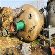 化工厂出售二手九成新不锈钢反应釜
