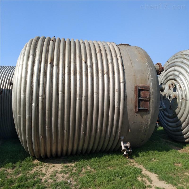 二手50立方不锈钢外盘管反应釜