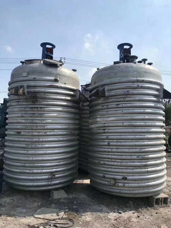 5吨不锈钢反应釜全面回收二手5吨搪瓷和不锈钢反应釜