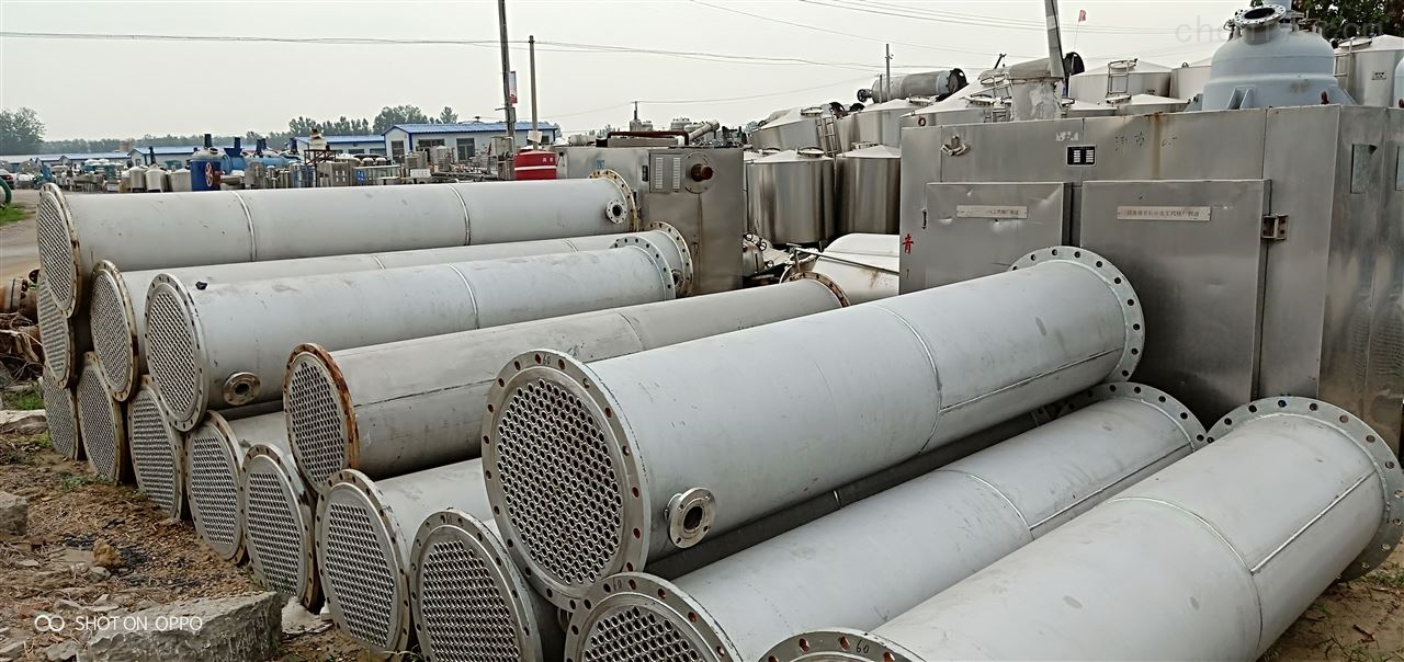 回收二手80平方不锈钢冷凝器