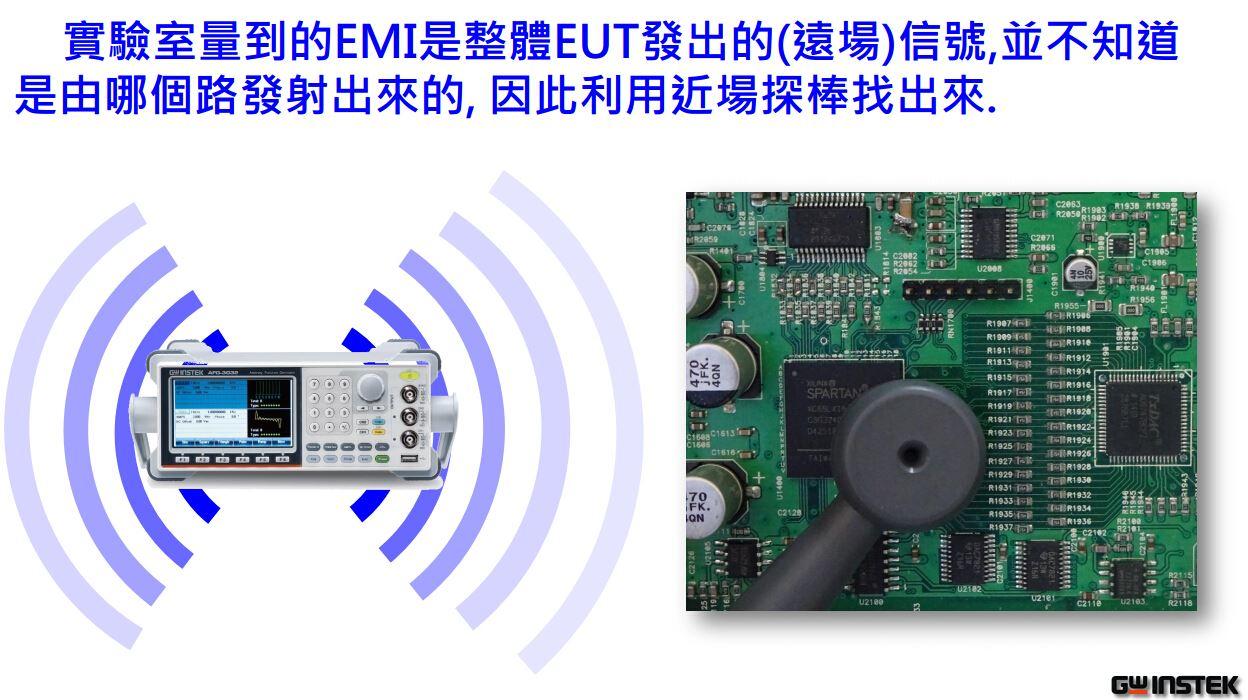 固纬EMI测试 EMC 预兼容测试解决方案 固纬电子推出完整的 EMC 测试解决方案以达到客户于产品开发及验证阶段的 EMC 预兼容传导及辐射测试需求。EMC 预兼容测试模式适合用于电子产品开发的早期电磁兼容性检测阶段。因此用户可以在早期发现及解决问题,避免产品在定型后被重新修改,节省产品的开发周期和认证实验室的费用,有助于加快产品进入认证阶段及上市时间。 EMC 预兼容测试解决方案包含 GSP-9300 频谱分析仪, 传导发射及辐射发射测试的相关配件.
