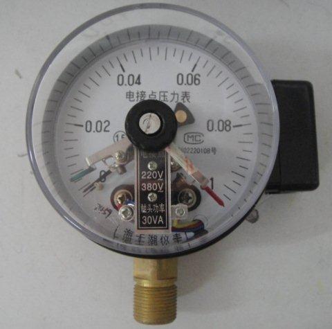 电接点压力表的接线方法