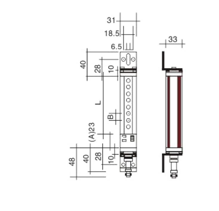 rdl安全光幕光栅冲床剪板光电保护器