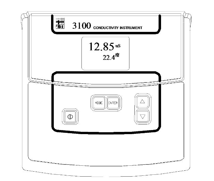 3100型电导率仪面板