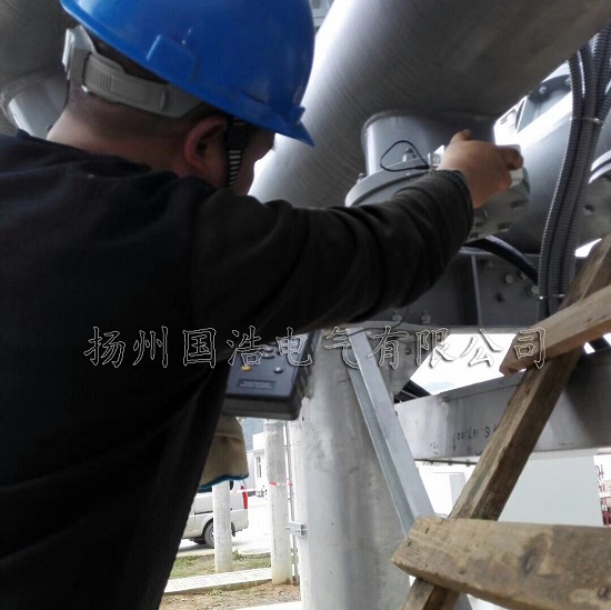 贵阳110kV马郎变电站GIS局放试验2