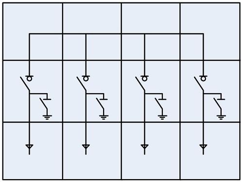 开关柜结构简图