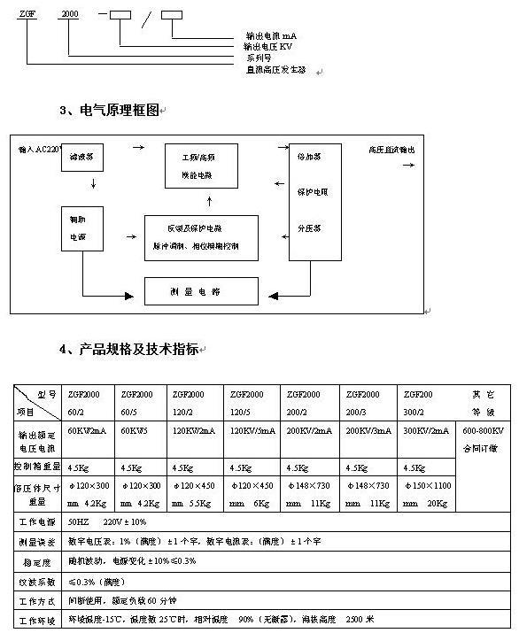 zgf-2ma/60kv直流高压发生器操作说明