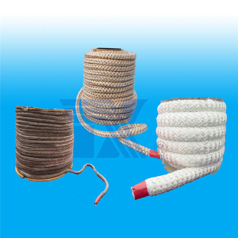 烟囱门密封材料  玻璃纤维针织绳是由玻璃纤维纱线针织成圆形绳状耐