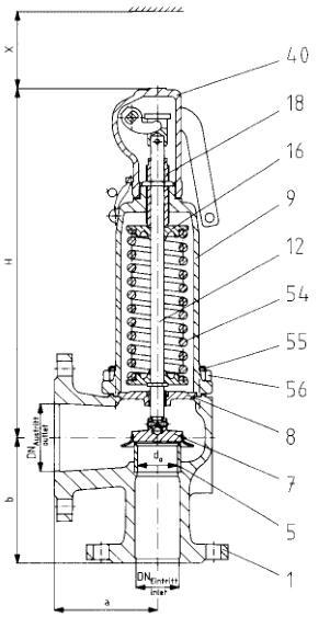 4414.4644 leser莱斯安全阀 设定压力 材质图片