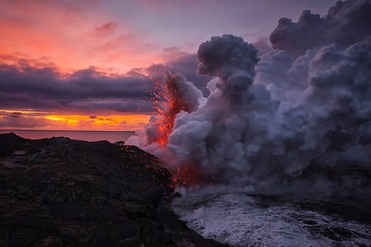 火山喷发毒气