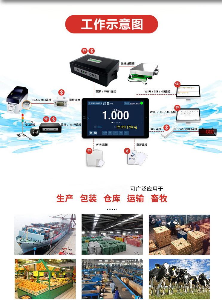 带扫描枪扫码输入功能智能称重系统-上海本熙