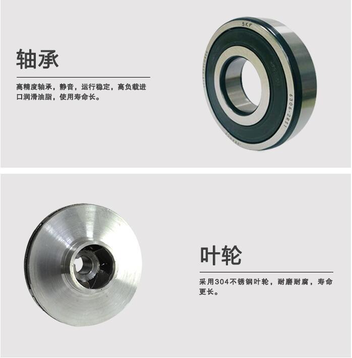 CQG型立式磁力泵轴承和叶轮