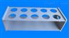 10孔耐酸碱梨形烧瓶架 鸡心瓶架 PVFE材质